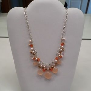 AUTHENTIC LAURA GIBSON SS PINK CHALCEDONY NECKLACE